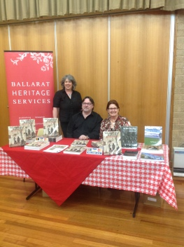 Heritage Publishing Staff Dr Dorothy Wickham and Clare Gervasoni with Professor Ian Clark