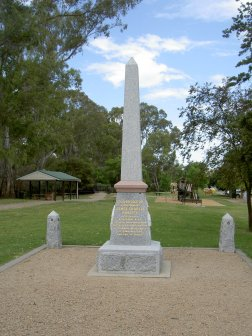 Memorial to Lt. James Charles Roberts Riverbank Gardens Murchison