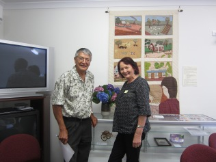 Bush Poet Maurie Foun and Marg Lock