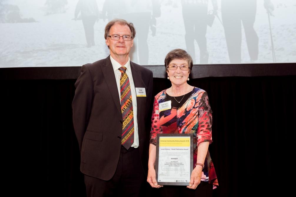 Kay Ball with Royal Historical Society President Don Garden.jpg
